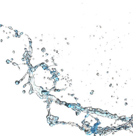Photo for Splash of water on white background - Royalty Free Image