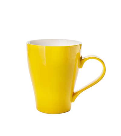 Photo pour Empty cup on white background - image libre de droit
