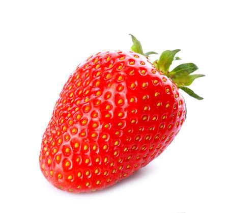 Photo for Sweet ripe strawberry on white background - Royalty Free Image