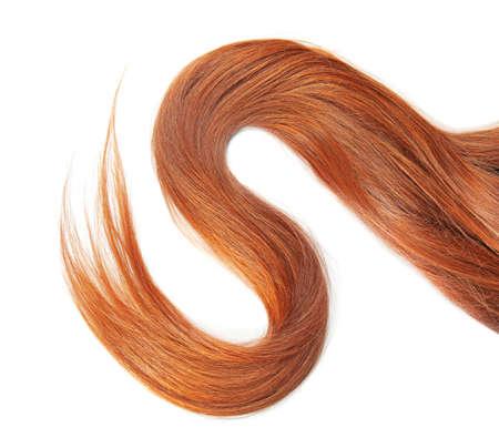 Photo pour Beautiful red hair on white background - image libre de droit