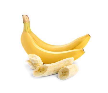 Photo for Ripe bananas on white background - Royalty Free Image