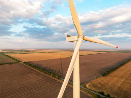 Photo for Windmill for electric power in countryside - Royalty Free Image