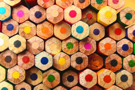 Photo pour Set of colorful pencils as background - image libre de droit