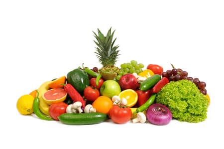 Foto für fruits and vegetables isolated on a white                                     - Lizenzfreies Bild