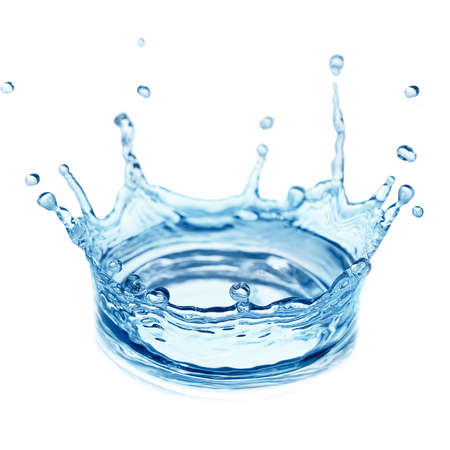splash water isolated on a white background                                    の写真素材