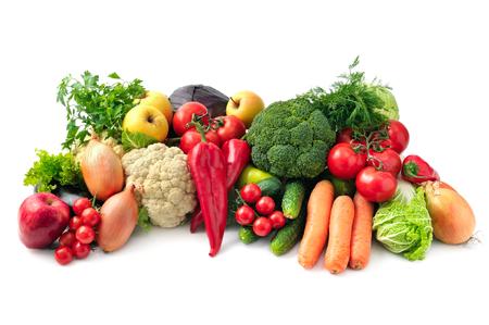 Foto für fresh fruits and vegetables isolated on white background - Lizenzfreies Bild