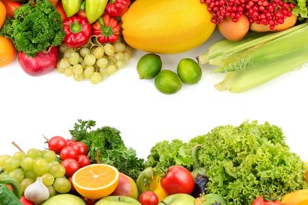 Foto für fruits and vegetables isolated on a white background - Lizenzfreies Bild