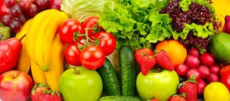 Foto für collection fresh fruits and vegetables background - Lizenzfreies Bild
