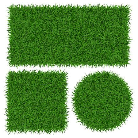 Green grass banners, vector illustration.