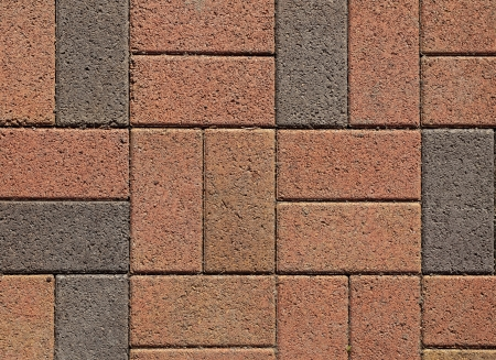 Pink ang grey block paving  May be used as background or texture
