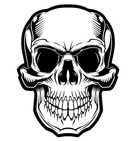 Illustration pour The smile of the skull. - image libre de droit