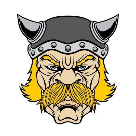 Illustration pour Viking warrior head. - image libre de droit