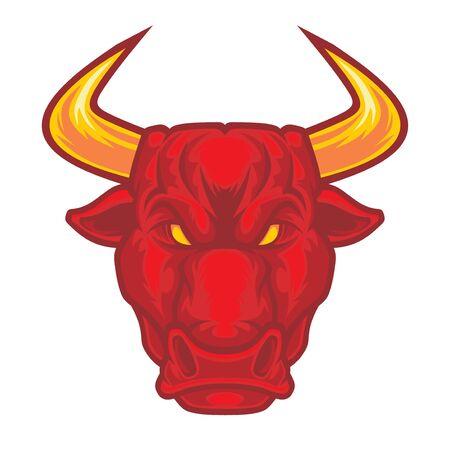Illustration pour Bull head. - image libre de droit