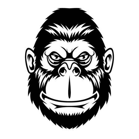 Illustration pour Funny monkey. - image libre de droit