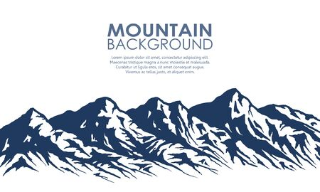 Illustration pour Mountain range silhouette isolated on white. - image libre de droit