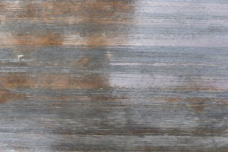 Photo for Brown lacquered flooring. The floor is wooden, natural varnished, glossy. Background for design blank. - Royalty Free Image