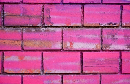 Colorfully painted stone wall as background
