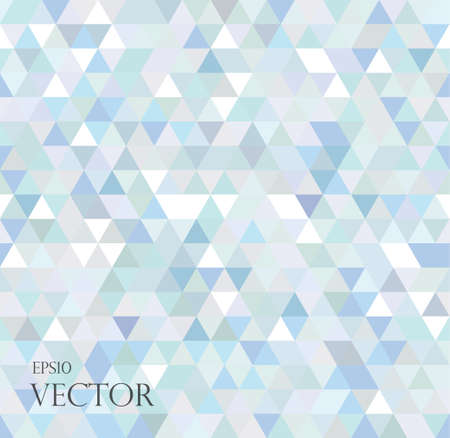 Abstract geometric background consisting of light blue triangles.