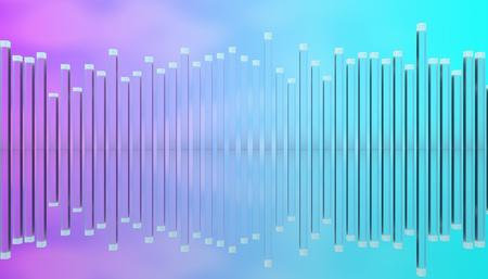 Illustration of glass poles equalizer.