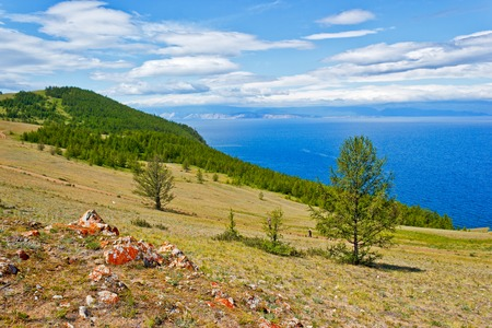The western coast of island Olkhon on lake Baikal, a kind on the Small Sea