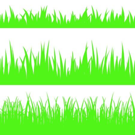 Set of seamless the grass.
