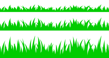 Vector illustration the set of seamless the grass.
