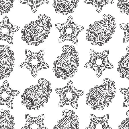 Illustration pour Indian style pattern design. Vector illustration. - image libre de droit