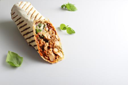 Photo pour shaurma kebab on a light background - image libre de droit