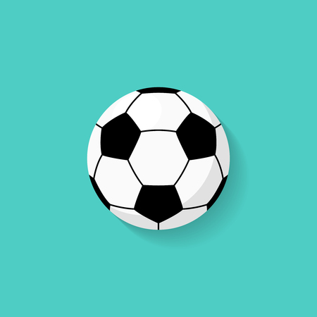 Soccer ball icon in flat style. Vector