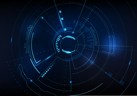 Illustration pour Sci fi futuristic user interface. Vector illustration. - image libre de droit