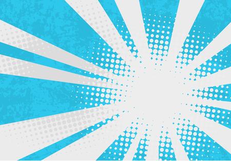 Illustration pour Retro explosion background. Pop art vector illustration with dots and rays. - image libre de droit