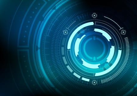 Illustration pour Sci fi futuristic background. Vector illustration. - image libre de droit