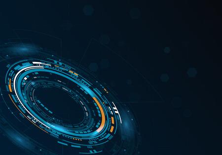 Ilustración de Sci fi futuristic user circular interface. Vector illustration. - Imagen libre de derechos