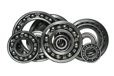 Photo pour steel ball bearings on a white background - image libre de droit
