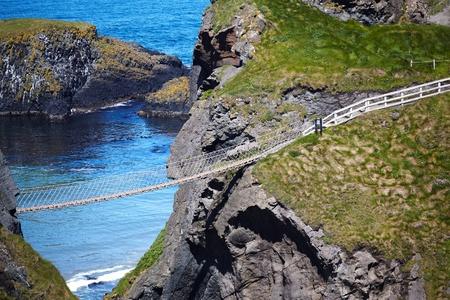 Carrickarade rope bridge from Portaneevy in Northern Ireland