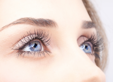 Foto de Closeup shot of woman eye with day makeup - Imagen libre de derechos