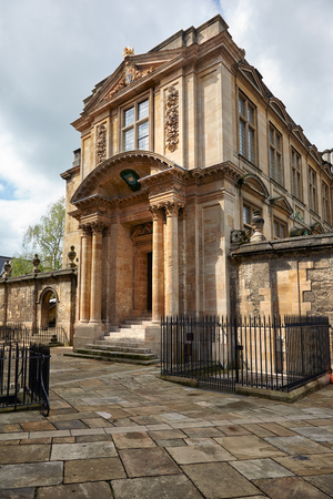 The Museum of the History of Science (Old Ashmolean Building) in Broad Street. The museum presents a broad collection of scientific instruments from Middle Ages to the 20th century. Oxford, England,
