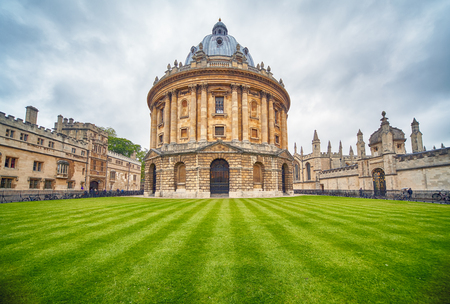 Photo for The view of Radcliffe Camera in the center of Radcliffe Square. It was built to house Science library and now serving as reading room for the Bodleian library. Oxford University. England - Royalty Free Image