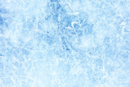 Photo for Surface of winter ice on Baikal lake in Siberia . Blue background of Ice texture - Royalty Free Image
