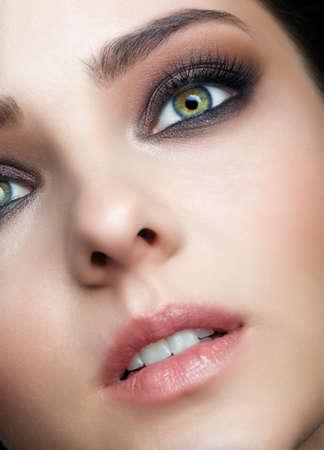 Photo pour Beauty portrait of young woman. Female with brown hair. - image libre de droit