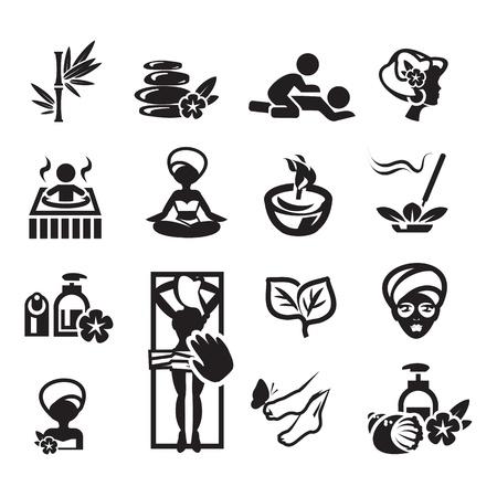 Illustration for Spa icons set - Royalty Free Image