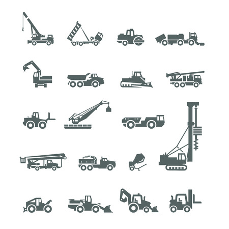 Construction machinery  Vector format