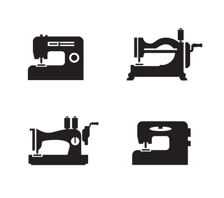 Sewing machine icons  Vector format