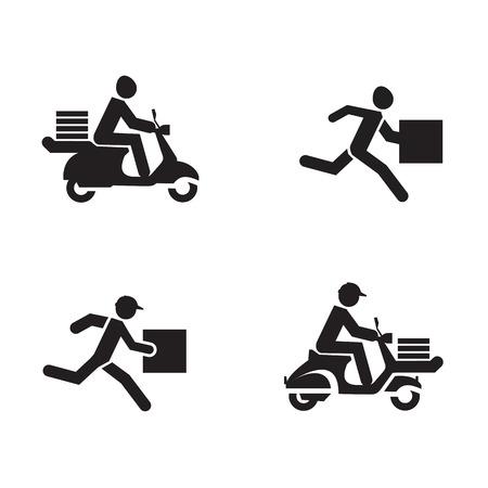 Illustration pour Delivery icons  Vector format - image libre de droit