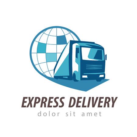 Illustration pour delivery. truck on a white background. vector illustration - image libre de droit