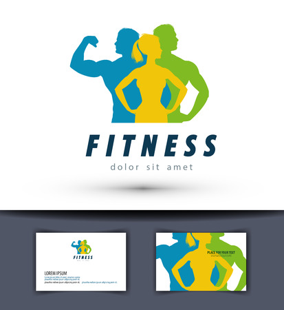 fitness and sports on a white background. vector illustration