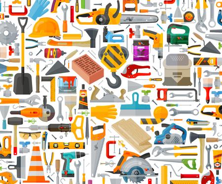 Illustration pour construction tools on a white background. vector illustration - image libre de droit