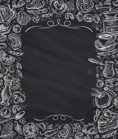 Illustration pour Restaurant, cafe vector menu design template - image libre de droit