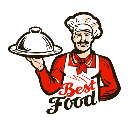 restaurant, diner vector logo. dish, meal, food or chef icon