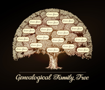 Illustration for Family tree in vintage style. - Royalty Free Image